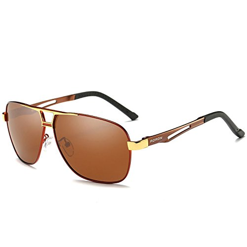 2eed510256 Amazon.com  Red Aoron-Hd-Polarized-Sunglasses-Men S-Driving-Outdoor-Sports- Eyewear-Glasses-Uv400  Home   Kitchen