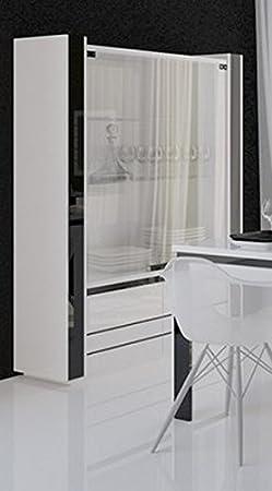Linn Vitrina 2 Puertas Lacado Blanco y Negro Mueble House: Amazon.es: Hogar