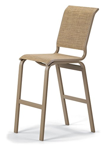 Telescope Casual Furniture Aruba II Sling Collection Bar Height Armless Chair, Bark, Textured Black Finish (Aruba Sling)