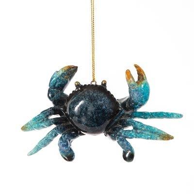 Sprinkles Gifts Christmas Tree Ornament Blue Crab Crabs Shiny Enamel Finish Ocean Sea Beach Theme Life Ornaments