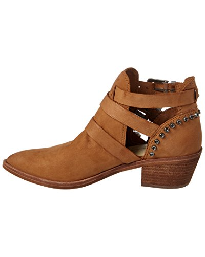 Chunky Dolce Women's Ankle Heel Distressed Nubuck Saddle Spur Booties Vita pt6ZtU