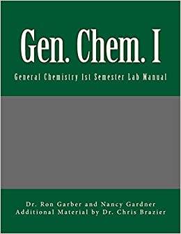 Book Gen. Chem. I: General Chemistry First Semester Lab Manual