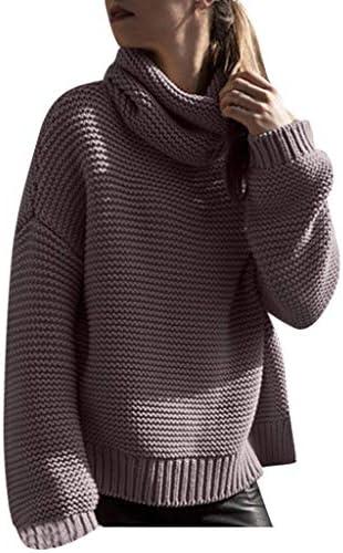 [해외]Aurorax Womens Casual Warm Bodycon SweaterWinter Outdoor Fashion Solid Long Sleeve High Collar Lazy Loose Blouse Tops / Aurorax Womens Casual Warm Bodycon SweaterWinter Outdoor Fashion Solid Long Sleeve High Collar Lazy Loose Blous...