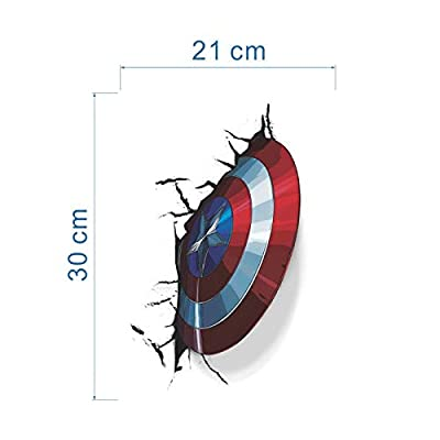 Captain America Shield Inspired 3D Toilet Vinyl Decal also for use on Walls/Cars/Tablets