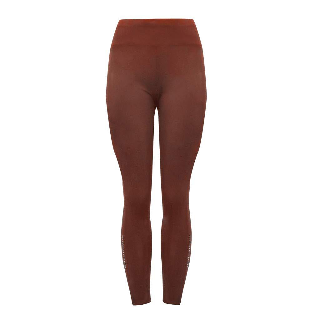 ShaDiao Damen Sport Pailletten Pocket Leggings Fitness Laufen Yoga Hosen Handytasche Sport Freizeithose