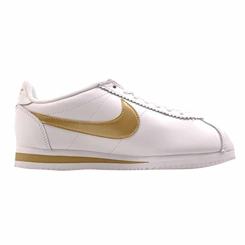 Classic Oro White Bianco Gold HK Nike Leather Wmns white Cortez RUxpT