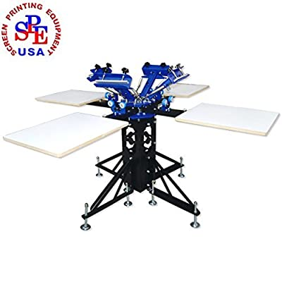 4 Color 4 Station Silk Screen Printing Machine Press DIY T-Shirt Printer