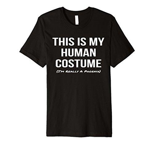 Mens Human Costume I'm a Phoenix Shirt Halloween Cosplay Tee Large Black (Phoenix Halloween Costume)