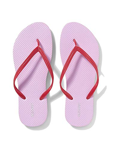 Old Navy Women Beach Summer Casual Flip Flop Sandals (8, Lavender/Red Color Block) ()