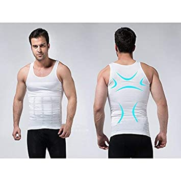 00b01a1890526 Buy Shopeleven Lycra Tummy Tucker Slimming Vest Sauna Body Shaper Tummy  Waist Magic Compression Muscle Shirt (Pack of 1) (Only White Colour) XXL.