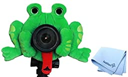 Camera Creatures Plush Stuffed Animal with a Built-in Squeaker - Fascinating Frog w/ Free ivation Lens Cloth