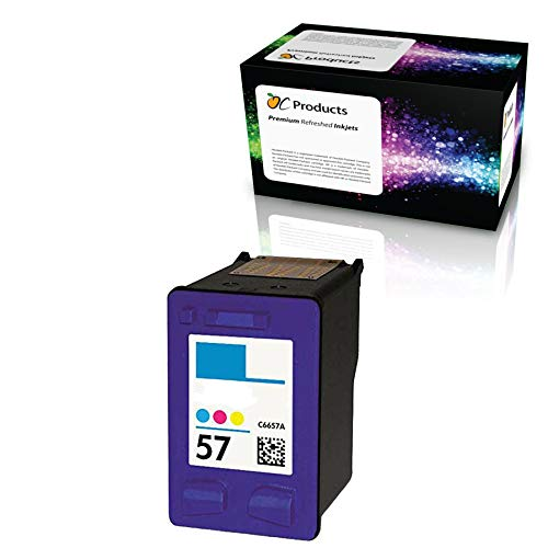 OCProducts Refilled HP 57 Ink Cartridge Replacement for HP PSC 1315 PSC 2410 PSC 1110 PSC 2175 Officejet 6110 Deskjet 450 PhotoSmart 7150 7260 Printers (1 Color) (Hp 56 57 Ink Cartridges Best Price)