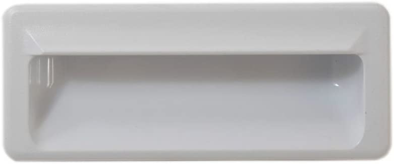 Whirlpool W10909035 Dryer Door Handle (White) Genuine Original Equipment Manufacturer (OEM) Part White