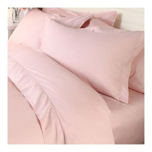 Solid Blush 300 Thread Count Twin Size 2PC Duvet Cover Set