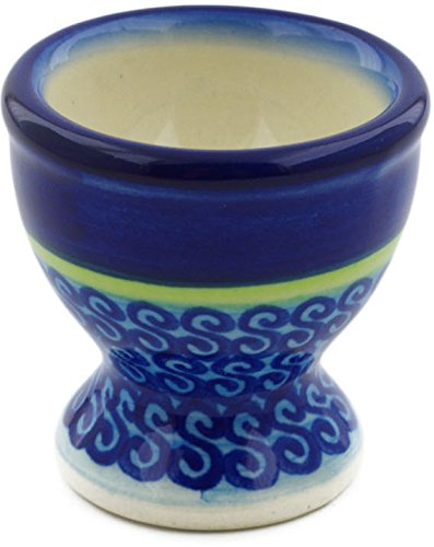 - Polish Pottery 2-inch Egg Holder (Midnight Eclipse Theme) + Certificate of Authenticity