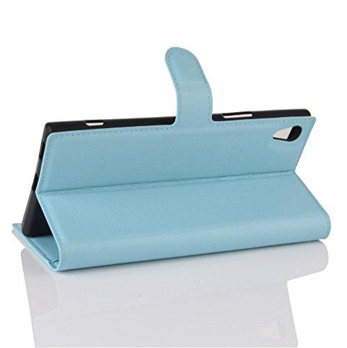 Funda Sony Xperia XA1 Ultra,Manyip Caja del teléfono del cuero,Protector de Pantalla de Slim Case Estilo Billetera con Ranuras para Tarjetas, Soporte Plegable, Cierre Magnético E