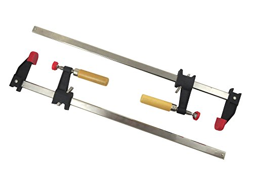 "Bundle Taytools 202563 Pair 2-Pack 24"" F Style Bar Clamps 2-1/2"" Depth Slip Clutch 500 Pounds Clamping Force by Taytools"