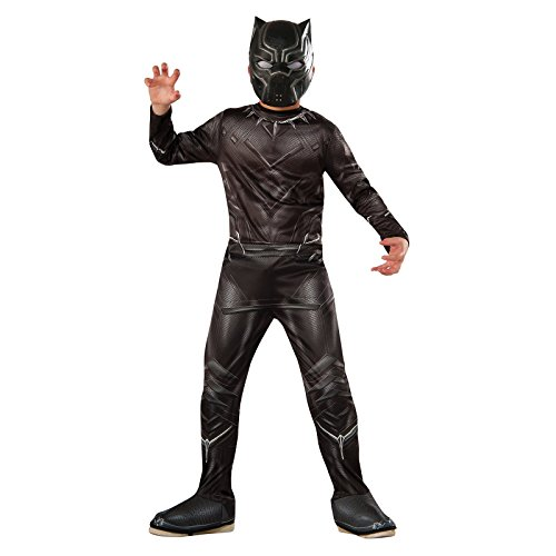 Italian Costume For Kids Boys (Rubie's Costume Captain America: Civil War Value Black Panther Costume, Small)