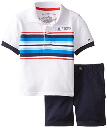 Tommy Hilfiger Baby Boys' Jon Slub Pique Polo with Flat Front Short