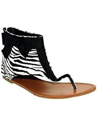 Snooki's Zebra Print Hooded Thong Sandals