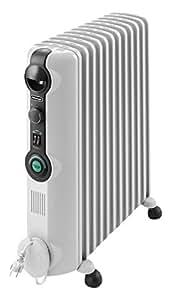 De'Longhi Radia S - Radiador con Comfort Temp, 12 elementos, color blanco y negro