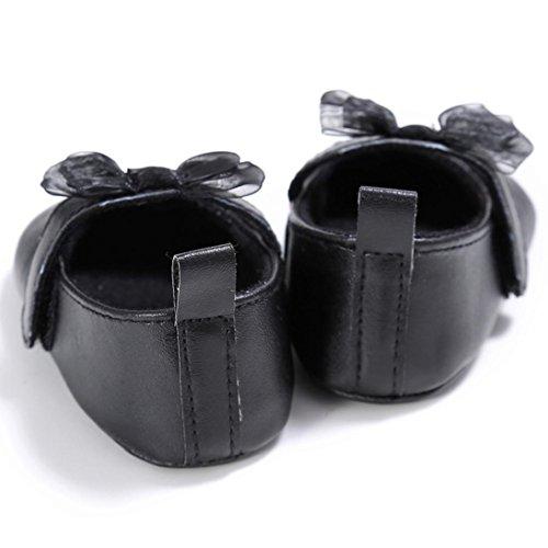 Tefamore Zapatos Bebé Recién Nacido de la Flor Zapatillas Antideslizantes Suaves Niño Cuna Negro