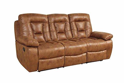 Coaster Home Furnishings Coaster 601864 Motion Sofa, Saddle, Evensky Motion Collection