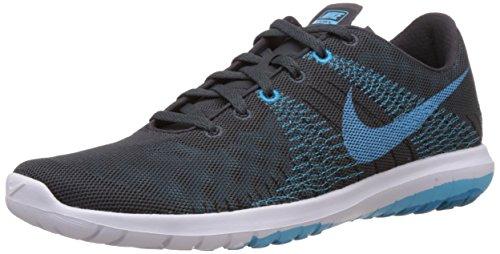 Nike Heren Flex Fury Hardloopschoenen- Antraciet / Clearwater Blue