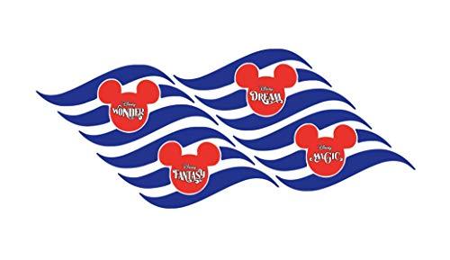 Disney Wonder Halloween Cruise (DCL Fish Extender Gift, 12 Disney Cruise Gift Magnets, 12 Fish Extender Gifts, FE Disney Dream, Fantasy, Magic, Wonder)