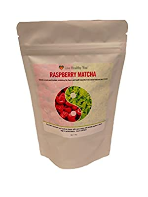 Matcha Green Tea Powder with Natural Raspberry Flavor for Matcha Green Tea Lattes Smoothies and Baking from Southern Japan Highest Antioxidant Anti-Ageing for Weightloss Detox Natural Energy Boost