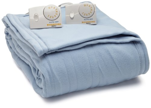 Price comparison product image Biddeford Blankets Comfort Knit Heated Blanket, Queen, Cloud Blue