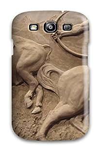 Hot New Tpu Hard Case Premium Galaxy S3 Skin Case Cover(sand Art)