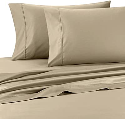 Deluxe  Solid Pair of Pillow Cases 100 Percent Egyptian Cotton Fine Single  Yarns 1800 Thread 75f1cda0ed4