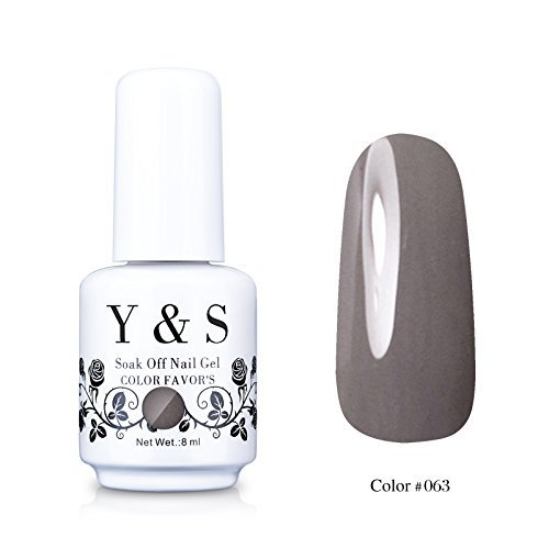 Y&S Gelpolish, Soak-off  Gray UV LED Nail Art/Beauty Care Ga