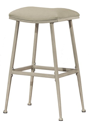 Hillsdale 6303-830 Indoor/Outdoor Flynn Non-Swivel Backless Stool, Bar, - Acrylic Bar Stool White