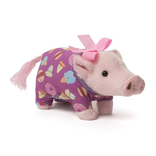 GUND Prissy Pajamas Mini Pig Stuffed Animal Plush, 6""