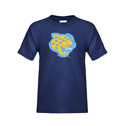 dabf27dc5 Amazon.com   Southern University Youth Navy T Shirt  Jaguar Head ...