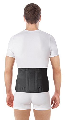 TOROS-GROUP Wide Lumbar Lower Back Brace Support Belt/Pain Relief and Comfort Posture - Small, Waist/Belly 33½