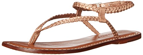 Women's Gladiator Merit Gold Sandal Rose Woven Bernardo PSZvZ1