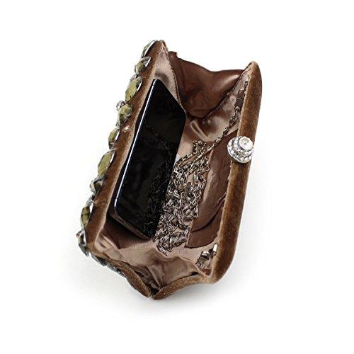 WYB Velvet Abendtasche hochwertigem Acryl Diamant / Kristall voller Bohrer / Frau Clutch / Abendtasche