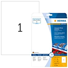 Herma 4698 - Pack de 25 etiquetas, 210 x 297 mm, color blanco