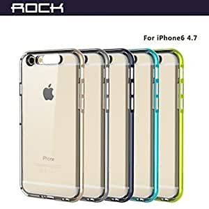 TOPQQ ROCK New To Lightning TPU Transparent Crystal Frame Case for iPhone 6 4.7 (Assorted Colors) , Gray