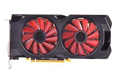 XFX RS Tarjetas gráficas XXX Edition RX 570 4 GB OC + 1284 MHz, DDR5 3 x DP, HDMI, DVI rx-570p4dfd6