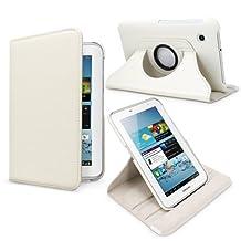Fosmon GYRE Series Revolving Leather Case for Samsung Galaxy Tab 2 7.0 / P3100 - (White)