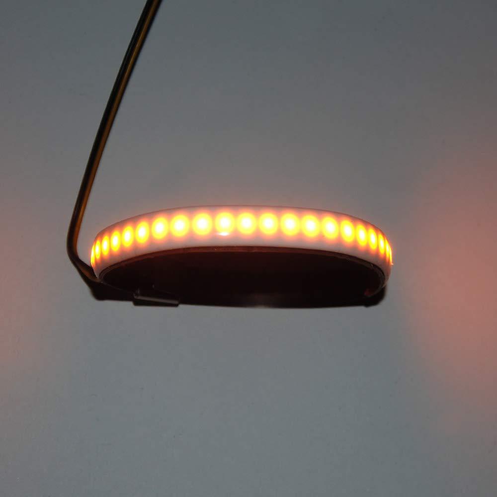 2pcs moto anteriore forcella LED striscia indicatori di direzione indicatore luminoso lampada dello sterzo ad anello