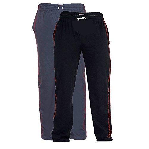 TeesTadka Men's Cotton Track Pants (Pack of 2)