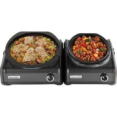 Crock Pot Hook Up Connectable 2Qt Round + 5Qt Oval Slow Cooker + 2 Serving Spoons Review