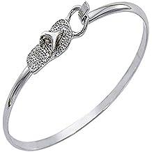 Flip Flop Bracelet Latch Cuff SilverTone by Cape Cod Jewelry-CCJ