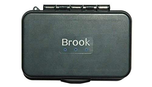 Brook Fishing Equipment, Fly Box with Silicone Inserts, Out Performs Foam, Possibly The Best Modern Technology in Fly Boxes, Available in Slit Non-Slit Styles