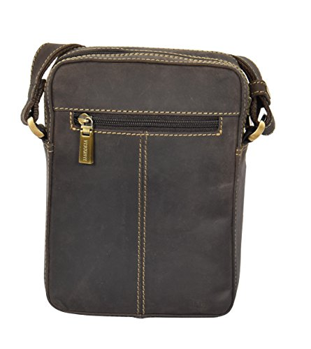 Herren Echtes Leder Tasche Schulter Messenger Vintage Leder Reißverschluss Top Tasche A049 Braun NEU